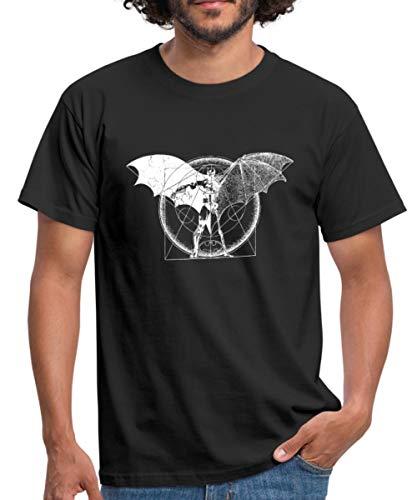 DC Comics Batman Homme De Vitruve T-Shirt Homme, XL, Noir