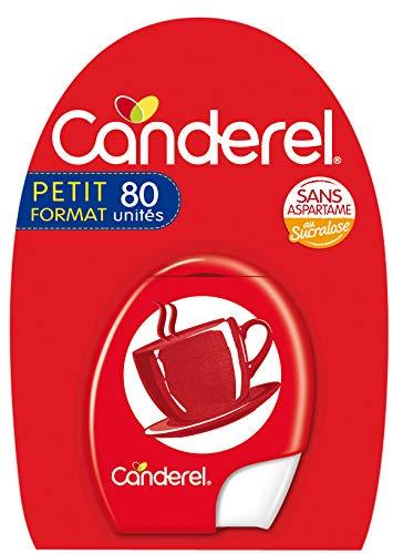 CANDEREL - Sucralose – Edulcorant - le Gout du Sucre Sans Calorie - Sans Aspartame - 80 Comprimés – Format Pratique