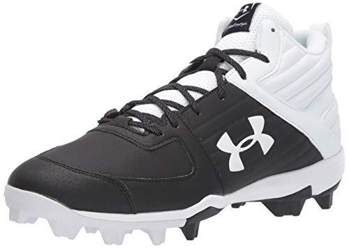 Under Armour Men's Leadoff Mid RM Baseball Shoe, Black (002)/White, 12