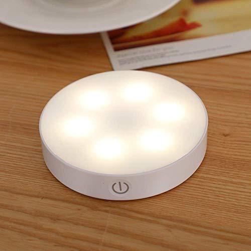Luz de Noche 6 LED Pir Sensor de Movimiento Luz de Noche Encendido/Apagado automático para escaleras de Dormitorio Armario Cables de Armario Lámpara de Pared Recargable por USB