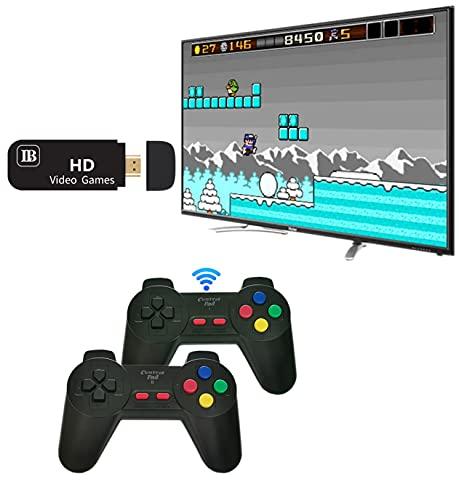 Consola de Juegos Inalámbrica Consola HDMI Game Stick Consola de Videojuegos HD Mini con 821 Juegos Clásicos y Controlador InaláMbrico 2.4G