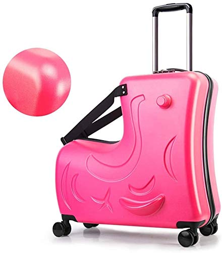 ZHNA Mochila escolar Los niños maleta trolley y almacenamiento de la bolsa, equipaje de mano portátil bolsa de viaje, carretilla plegable de paseo en carros de equipaje, resto niños juegos de