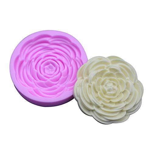 Cosanter Moule À Fondant DIY en Forme De Fleur Moule À Cake Rose