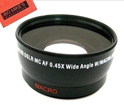 49mm 0.43x Wide Angle Lens with Macro for Panasonic HC-WXF991K, HC-VX981K, HC-X900/M, HC-X920K Camcorder by Big Mike's