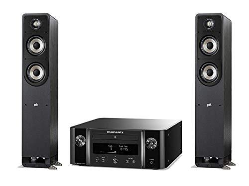 Marantz Melody X (M-CR612), HiFi-Netzwerk-System (2X 60 Watt, HEOS, Alexa Kompatibel, Spotify, Amazon Music) schwarz + Polk Audio S50E Signature E Series Standlautsprecher, schwarz