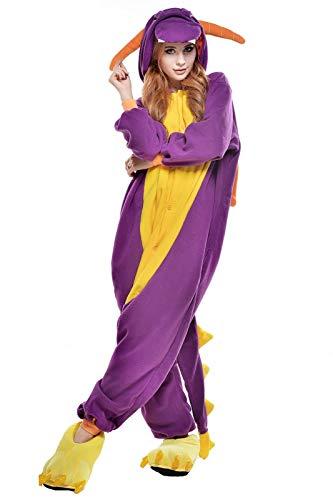 Unisex Spyro The Dragon Grün China Dragon Onesie Kigurumi Pyjama Karneval Kostüm Maskenkostüm Kapuzenpulli Schlafanzüge Spyro The Dragon, L(Height 170cm-180cm)