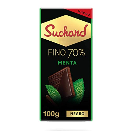 Suchard - Roc Chocolate Negro 70% con Menta - Tableta de 100 g