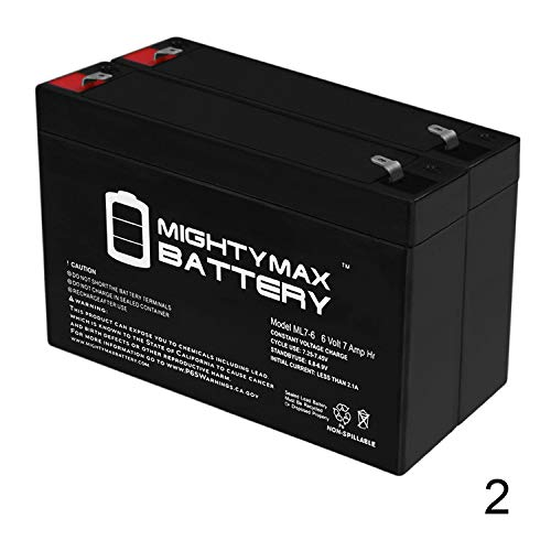 Mighty Max Battery Ride On Replacement 6V 7AH Battery for Kids Ride On Power Car Wheels - 2 Pack Brand Product