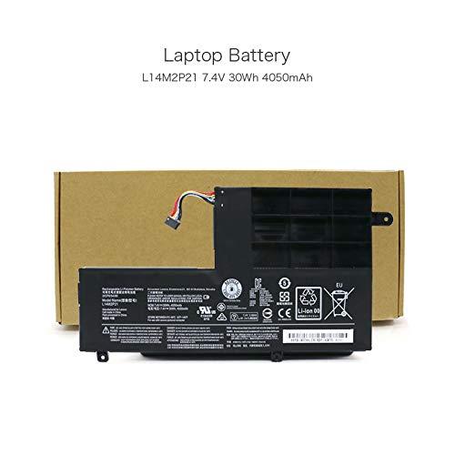 szhyon 7.4V 30Wh 4050mAh L14L2P21 L14M2P21 Batería para laptop compatible con Lenovo Yoga 500-14 Yoga 500-14ISK Edge 2-1580 Flex 3-1435 Flex 3-1470 PC