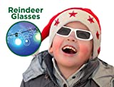 Holiday Specs Plastic 3D GLASSES- Holographic glasses, Look through Glasses at your Holiday Lights and see Reindeer Appear before your Eyes!