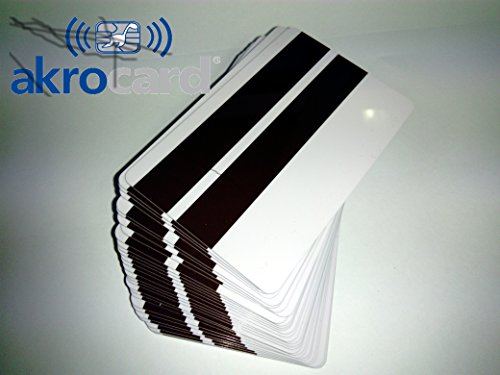 Pack 100 - Tarjeta PVC Blanca con Banda magnetica LO - CO...