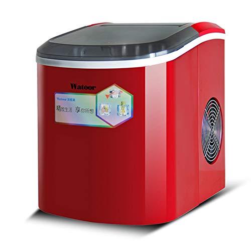 Automatische Eismaschine,LMM Commercial Haushaltsgröße Eiswürfelmaschine Milk Tea Shop,Eismaschine mit kompressor 2l(rot)