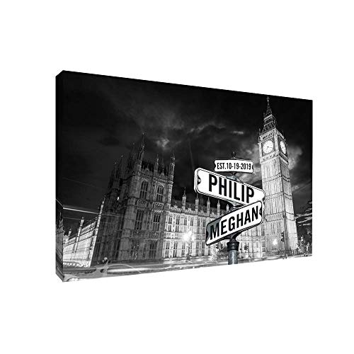 Personalized Street Name Canvas - Custom Canvas Artwork Perfect Gift for Wife