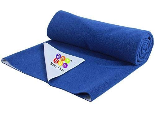 """Bey Bee Premium Quality Bed Protector, Reusable, Waterproof, and Washable, Best Underpad Sheet Protector for Baby or Patients with Incontinence/Baby Mattress Protector, Medium 39""""x28"""" Royal Blue"""