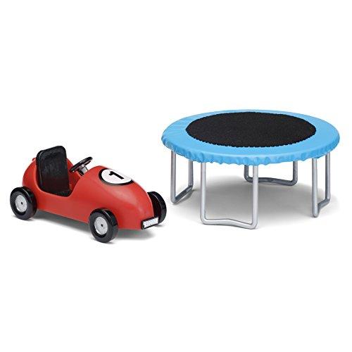 Lundby 60.5093.00 - Trampolino e Auto, Mini Bambola con Accessori