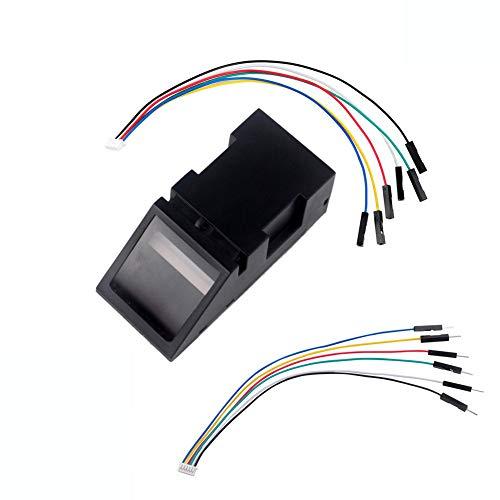 DIYmalls Lector óptico de huellas dactilares Escáner Sensor Módulo Cerradura Puerta Control de acceso Luz roja para Arduino Mega2560 UNO R3 51 AVR STM32