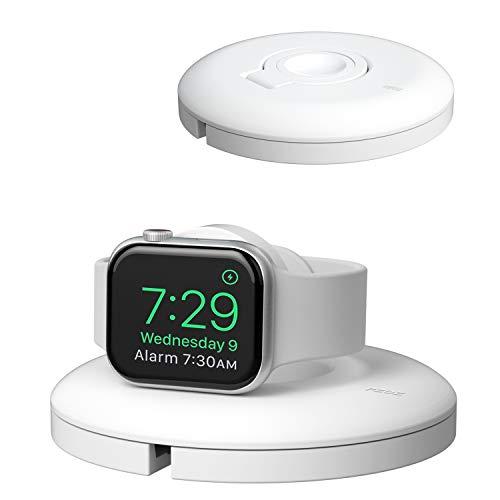 PZOZ Support De Charge pour Apple Watch,Support iWatch 1/2/3/4/5/6/SE 38/40/42/44mm pour Apple Watch,Charge Et Mode Night Stand,Quai De Charge AirPods Pro (câbles Non Inclus Et chargeur) (Blanc)