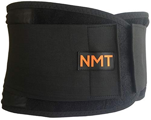 Back Brace by NMT ~ Lumbar Support Black Belt ~ Posture Corrector ~ Arthritis, Pain Relief, Sciatica, Scoliosis ~ Physical Therapy for Women-Men ~ 4 Adjustable Sizes-'XL' Fits Waist 40-45' (102-115cm)