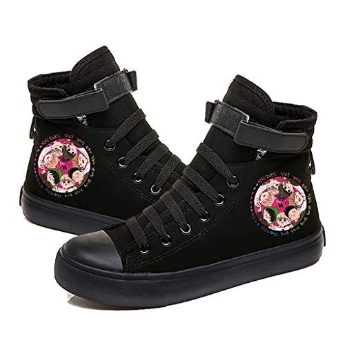 HJJ. KPOP BTS - Zapatillas de lona ligeras, estilo hip hop, con impresión de dibujos...