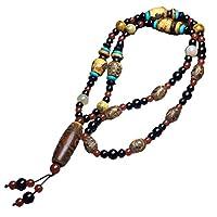 ZHIBO Halskette mit natürlichem Achat Dzi Perlen