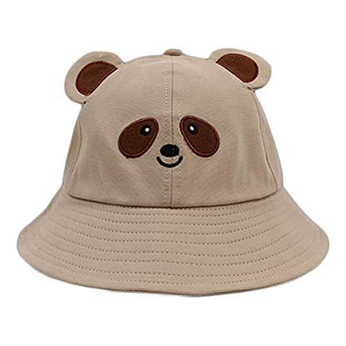 Oyria Netter Panda Eimer Hut Sommer Eimer Sonnenhut für Erwachsene Kinder Breite Krempe Fisherman Cap Outdoor Faltbarer Fischerhut