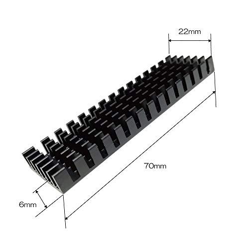 monofiveM.2(2280)SSD用ヒートシンク放熱板(黒)MF-RADI-A1B