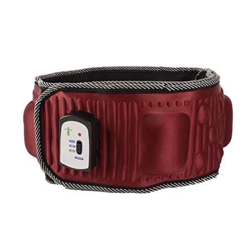 Wsaman Cinturón Calefactor Ajustable de Cintura portátil, Fibra De Carbono Cintura Entrenador Ergonómico Diseño para Dismenorrea/Dolor De Espalda/Dolor De Estómago,Rojo