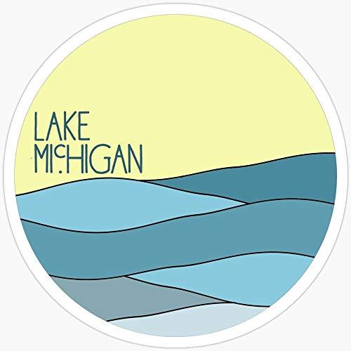 Deangelo Lake Michigan Sticker, 3 Stück