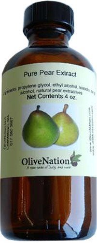 OliveNation Pure Pear Extract - 4 ounces - Gluten-free, Sugar-free - Premium Quality Flavoring Extract for Baking