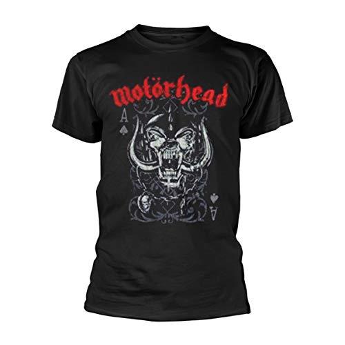 Motorhead Playing Card Camiseta Manga Corta, Negro, XL para Hombre
