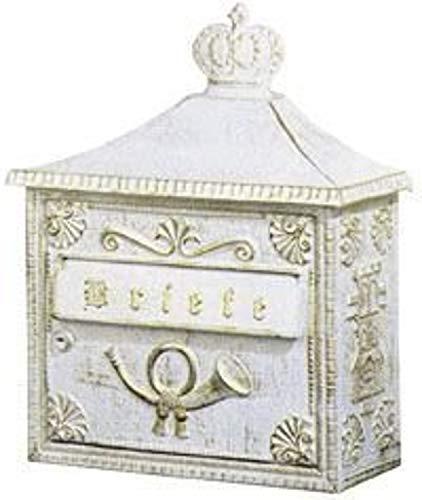 Albert brievenbus, aluminium, goud, 37 x 15,5 x 44 cm