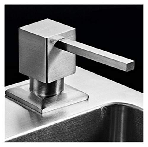 KGMIXL Clásico 304 Fregadero de Acero Inoxidable Dispensador de jabón Negro ABS Bottle Cocina Uso de Lavado Accesorios de Lavabo Recambio líquido para Cocina/baño/lavadero, (Color : Brushed)