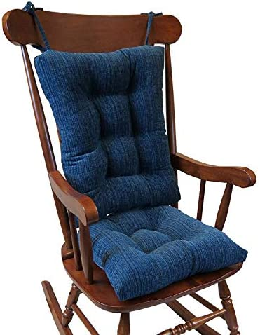 Best The Gripper Non-Slip Polar Jumbo Rocking Chair Cushions, Sapphire