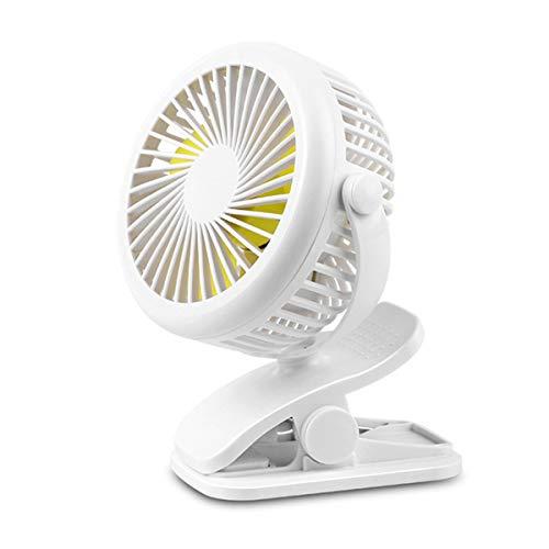 Unbekannt Mini-Clip-Lüfter USB Tragbarer Schreibtisch-Lüfter mit 3-Gang-Kinderwagen-Lüfter 360 Grad Leiser Persönlicher Lüfter für Home-Office-Krippenauto