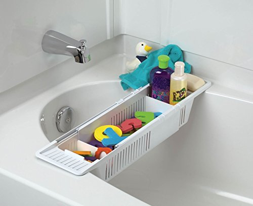 KidCo Bath Toy Organizer Storage Basket, White