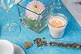 Vlies Tischläufer, 1 Rolle 25 m x 30 cm, Dekostoff | Tischband | Tischdeko Hochzeit, Taufe, Kommunion | Deko Geburtstag (Aqua) - 7