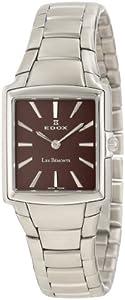Edox Men's 28126 3 BRIN Les Bemonts Rectangular Ultra Slim Watch image