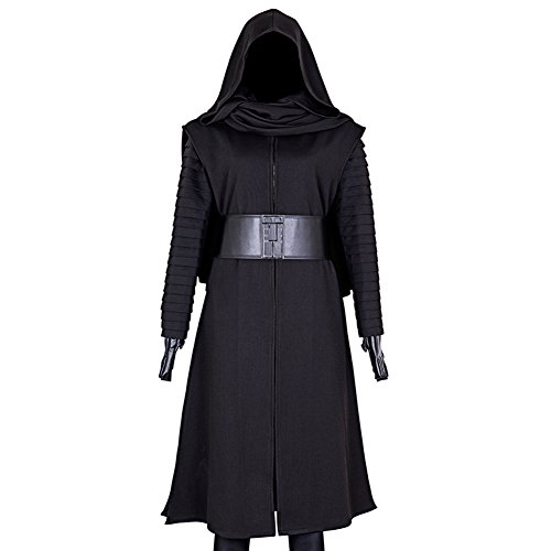 CG Costume Men's Kylo Ren Robes Outfit Cosplay Costume Large Black