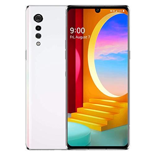 LG Velvet 5G LM-G900TM, US 5G/Global 4G LTE, 128GB, 6GB RAM, Aurora White - T-Mobile Unlocked (AT&T, Metro, Global) - 64GB SD Bundle