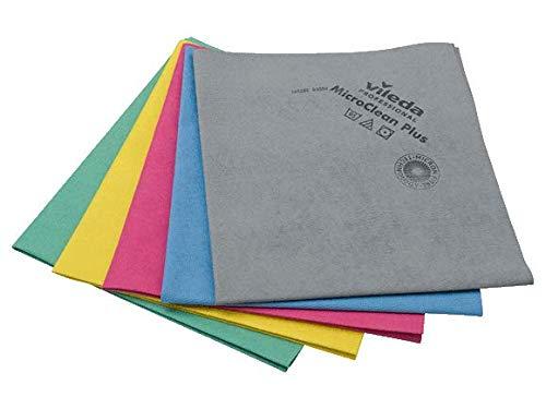 Vileda MicroClean Plus - Limpiacristales (5 unidades), color gris