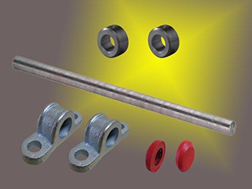 Stahlachse ø 20mm x1000mm Länge mit Zubehör für Wagenbau Kippwagen Kippkarre
