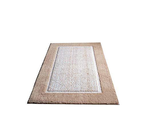 Tapijt, licht luxe tapijt koffie grijs minimalistisch geometrisch patroon antislip voetmat Light coffee-50 * 60cm