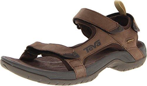 Teva Tanza Leather 9024 - Sandalias de cuero para hombre, Marrón, 42