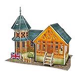 Homyl 3D Puzzle Puppenhaus Bausatz zum Selbermachen - 1:24 Mini Haus Bausatz Handgefertigt...