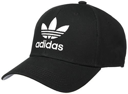 adidas Originals Herren Trefoil Structured Precurve Cap, Herren, Mütze, Originals Trefoil Structured Precurve, schwarz/weiß, Einheitsgröße