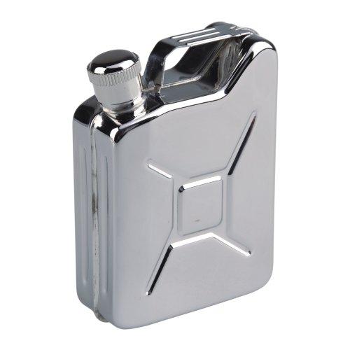 AceCamp Benzinkanister Flachmann Fläschchen Edelstahl Schraubverschluss, Silber