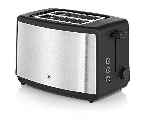 WMF Bueno Edition Toaster (800 W, Doppelschlitz Brötchenaufsatz 7 Bräunungsstufen) edelstahl matt