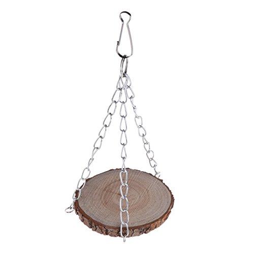 Ydh - Jaula colgante de jaula para pájaros o pájaros, juguetes interactivos