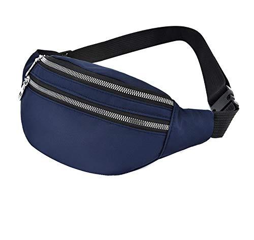 XZYC Sac de Taille Femmes Sac de Taille Ceinture Sac ࠠ Main étanche Pack de Taille pour Dames Belly Purseac-Deep_Blue