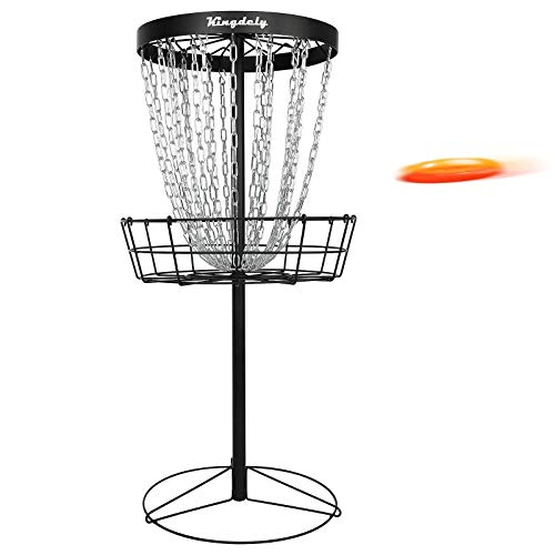 Disc Golf Basket Target, Upgraded 24-Chain Metal Disc Golf Practice Target Catch Hole, Dynamic Portable Frisbee Golf Basket for Indoor Outdoor